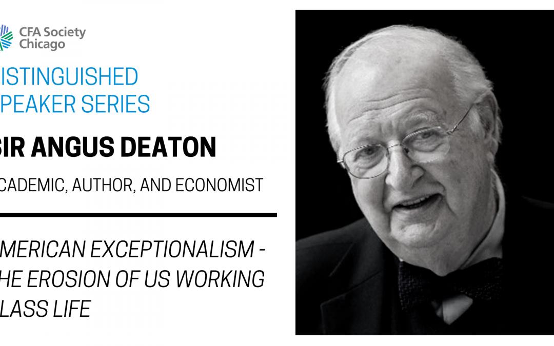 Distinguished Speaker Series: Sir Angus Deaton